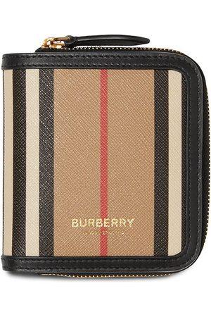 Burberry Women Wallets - Icon Stripe zip-around wallet - Neutrals