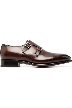 santoni Double buckle monk shoes