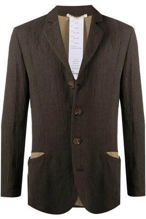 CHEREVICHKIOTVICHKI Single-breasted linen coat