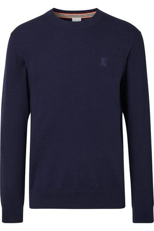Burberry Monogram-embroidered fine-knit jumper