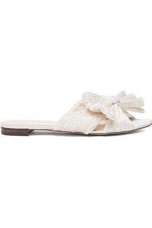 Loeffler Randall Women's Daphne Flat Metallic Sandals - - Size 10.5