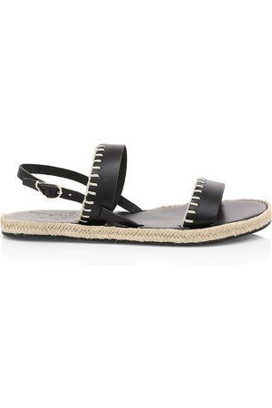 Ancient Greek Sandals Women's Clara Whipstitch Leather Espadrille Slingback Sandals - - Size 41 (11)