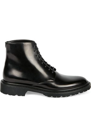 Saint Laurent Women's Cesna Leather Combat Boots - - Size 41.5 (11.5)