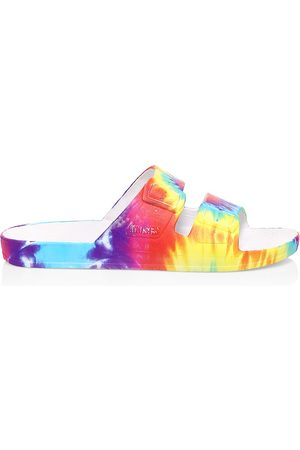 Freedom Moses Women's Tie-Dye Plastic Pool Slides - - Size 40-41 (10-10.5) Sandals