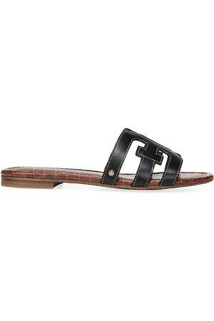 Sam Edelman Women's Bay Flat Leather Sandals - - Size 10