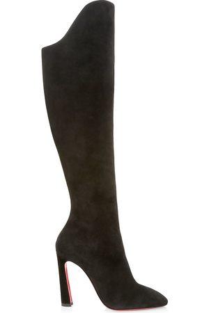 Christian Louboutin Women's Eleonor Botta 100 Suede Heel Boots - - Size 41 (11)
