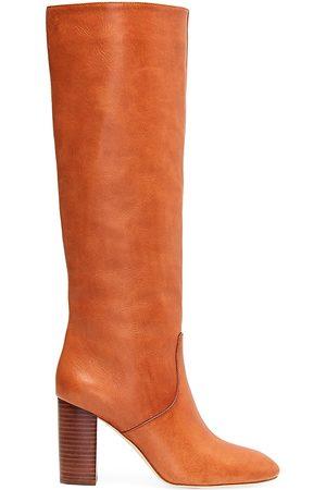 Loeffler Randall Women's Goldy Knee-High Leather Boots - - Size 6.5