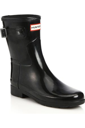 Hunter Women's Refined Short Gloss Rain Boots - - Size 11
