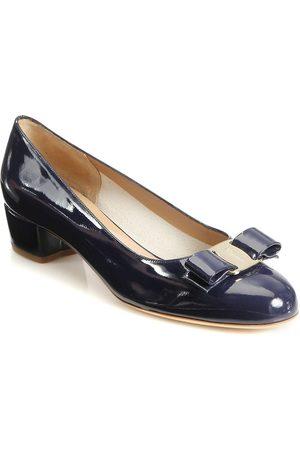 Salvatore Ferragamo Women's Vara Patent Leather Pumps - - Size 7.5 C