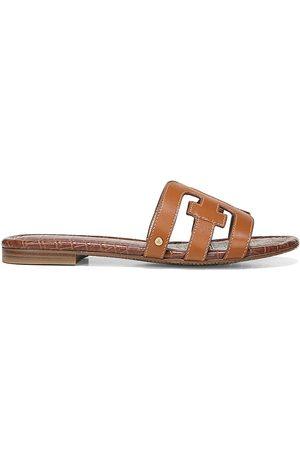 Sam Edelman Women's Bay Flat Leather Sandals - - Size 10.5