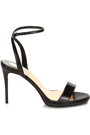 Christian Louboutin Women's Loubi Queen Leather Ankle-Strap Sandals - - Size 41 (11)