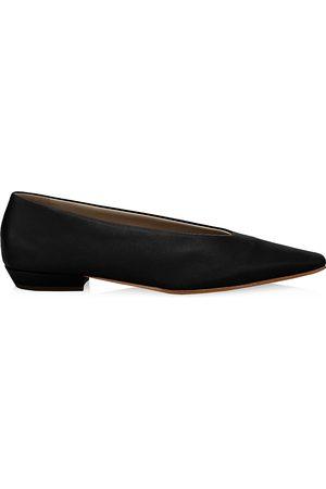 Bottega Veneta Women's Almond Leather Flats - - Size 35.5 (5.5)