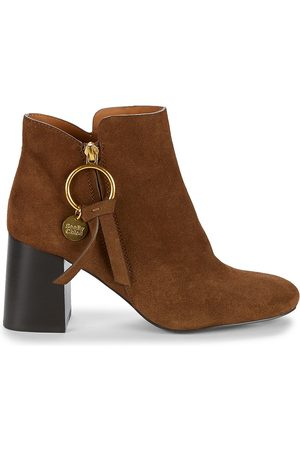 See by Chloé Women's Louise Block-Heel Suede Ankle Boots - - Size 35.5 (5.5)