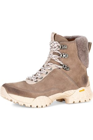 Frye Women's Brit Shearling-Trimmed Suede Hiking Boots - - Size 11