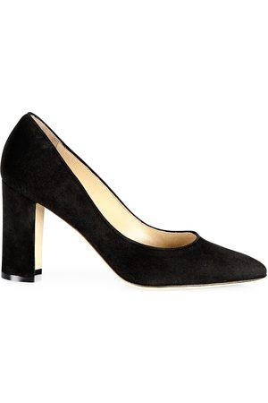 Manolo Blahnik Women's Tucciototo Block-Heel Suede Pumps - - Size 37 (7)