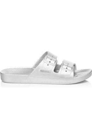 Freedom Moses Women's Metallic Plastic Pool Slides - - Size 42-43 (11-12) Sandals