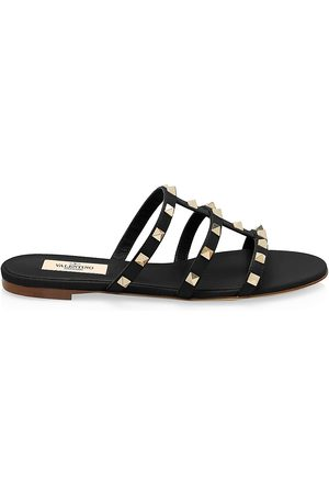 VALENTINO Women's Garavani Rockstud Leather Slides - - Size 40 (10) Sandals