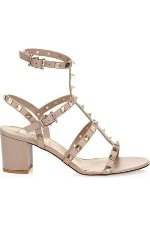 VALENTINO Women's Garavani Rockstud Leather Cage Sandals - - Size 41 (11)