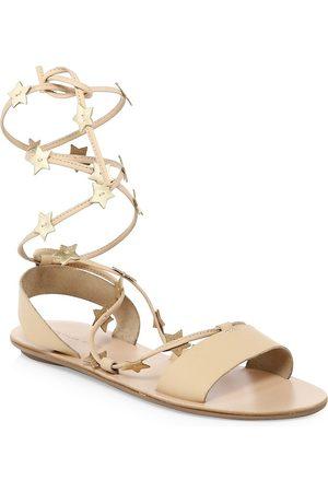 Loeffler Randall Women's Starla Ankle-Wrap Leather Sandals - - Size 9