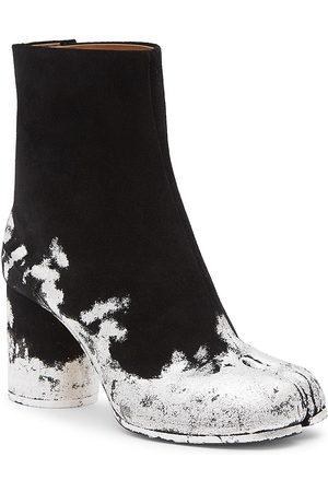 Maison Margiela Women's Tabi Silver Foil Suede Ankle Boots - - Size 40 (10)