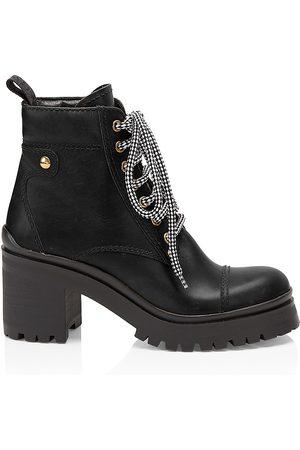 Miu Miu Women's Nevermind Leather Combat Boots - - Size 41.5 (11.5)
