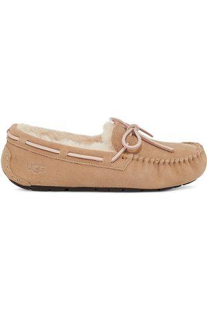 UGG Women's Dakota Faux Shearling-Lined Suede Slippers - - Size 10
