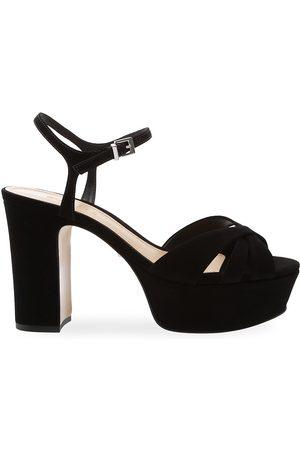 Schutz Women's Keefa Suede Platform Sandals - - Size 11