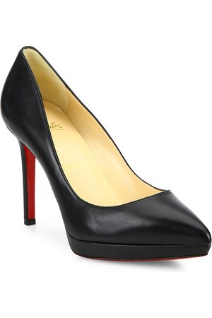 Christian Louboutin Women's Pigalle Plato 100 Platform Leather Pumps - - Size 41.5 (11.5)