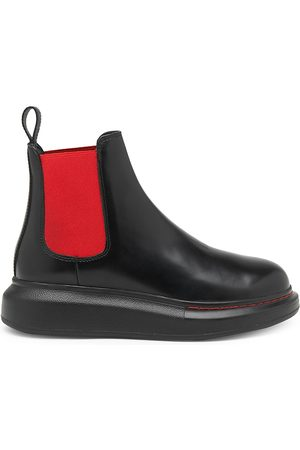 Alexander McQueen Women's Bi-Color Hybrid Leather Chelsea Boots - - Size 35.5 (5.5)