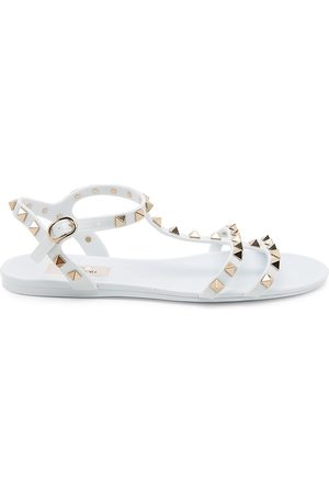 VALENTINO Women's Garavani Rockstud PVC Gladiator Sandals - - Size 41 (11)