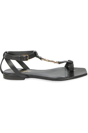 Saint Laurent Women's Cassandra Leather Toe-Loop Sandals - - Size 42 (12)