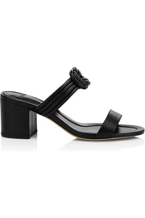 ALEXANDRE BIRMAN Women's Vicky Knotted Leather Mules - - Size 40 (10)