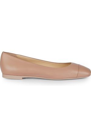 Jimmy Choo Women's Gloris Square-Toe Leather Ballet Flats - - Size 40 (10)
