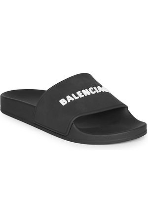 Balenciaga Women's Embossed Logo Pool Slides - - Size 42 (12) Sandals
