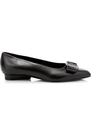 Salvatore Ferragamo Women's Viva Bow Leather Ballerina Flats - - Size 10 C
