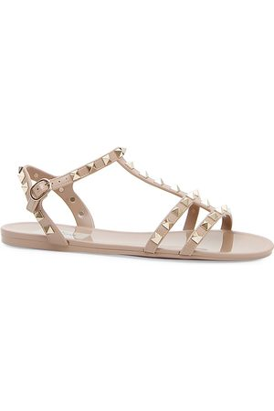 VALENTINO Women's Garavani Rockstud PVC Gladiator Sandals - - Size 38 (8)