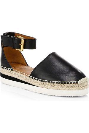 See by Chloé Women's Glyn Leather Flatform Espadrilles - - Size 40 (10)