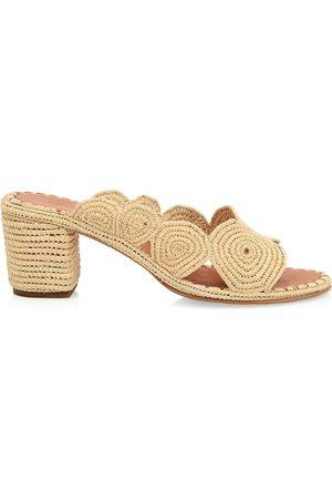 Carrie Forbes Women's Raffia Mule Sandals - - Size 35 (5)