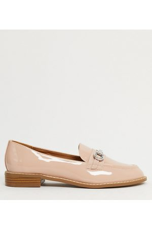 ASOS Wide Fit Vapor snaffle loafer in patent