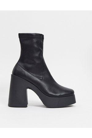 ASOS Elsie high heeled sock boot in PU