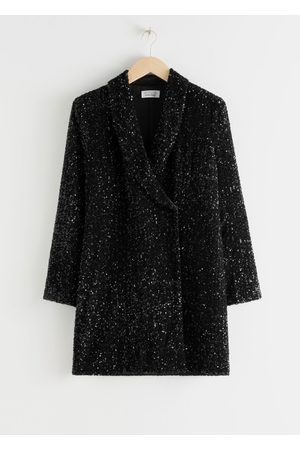 & OTHER STORIES Sequin Double Breasted Blazer Dress