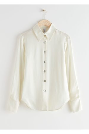 & OTHER STORIES Shell Button Satin Blouse