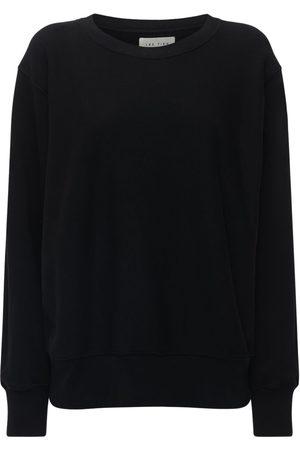 Les Tien Women Sweatshirts - Cropped Cotton Crewneck Sweatshirt