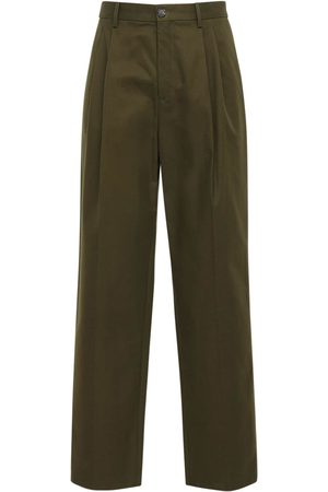 Loewe Pleated Chino Cotton Canvas Pants