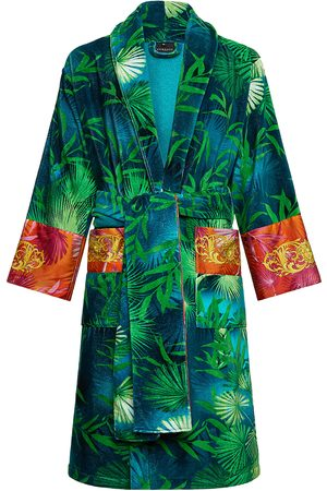 VERSACE Women's Jungle Barocco Print Cotton Bathrobe