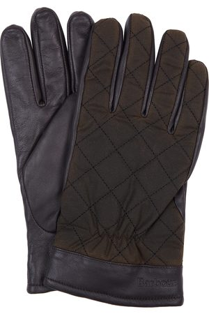Barbour Men's Dalegarth Leather & Waxed Cotton Gloves
