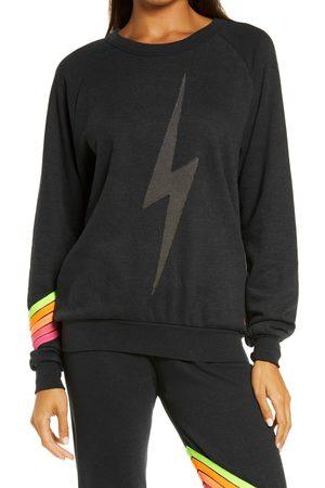 AVIATOR NATION Women's Bolt Chevron Stripe Sweatshirt