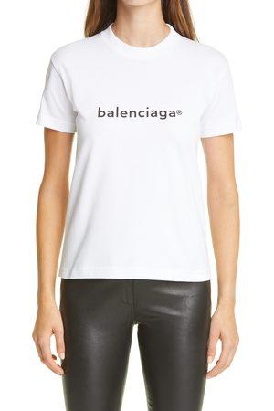 Balenciaga Women's Copyright Logo Graphic Tee