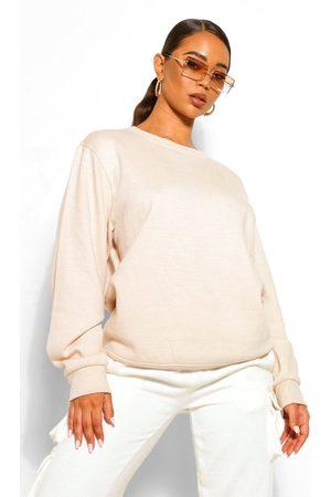 Boohoo Womens Basic Oversized Sweatshirt - - 2