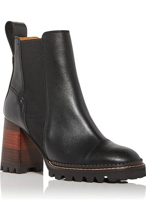 See by Chloé Women's Mallory High Block Heel Chelsea Boots